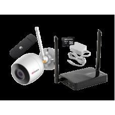 Комплект № 11 Wi-Fi уличная видеокамера + MicroSD 64Gb + роутер с 4G модемом