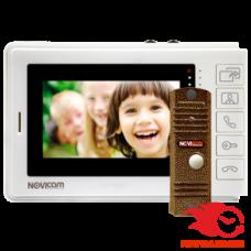 Novicam SMILE 4 KIT комплект: аналоговый видеодомофон SMILE 4 и уличная всепогодная вызывная панель LEGEND BRONZE